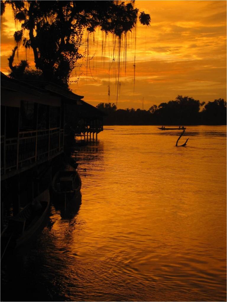 Laos, 4000 îles, vue du hamac