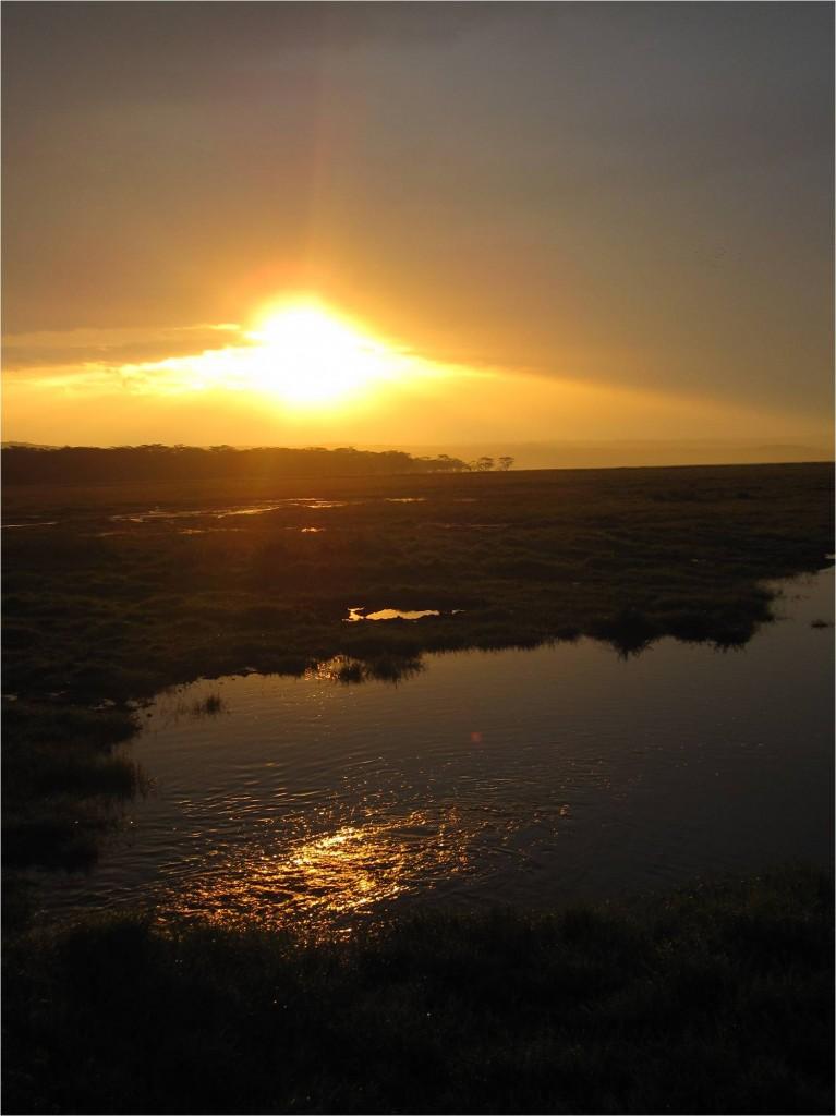 Coucher de soleil Naivasha Kenya