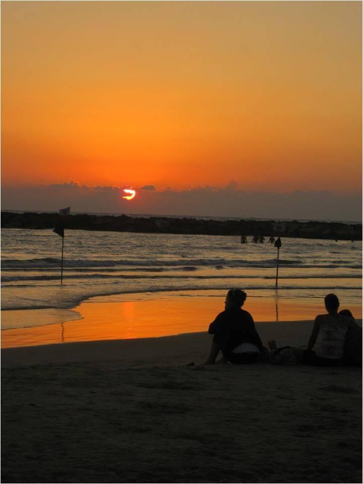 Coucher de soleil Tel Aviv Israël