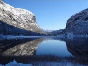 Eidfjord, Norvège, novembre 2012