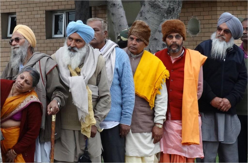 Inde Attari hommes sikhs