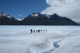 Patagonie, janvier 2011. Marche sur le Perito Moreno.