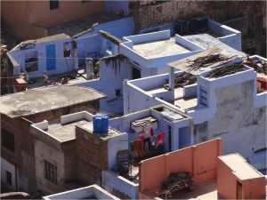 Inde Bundi maisons bleues