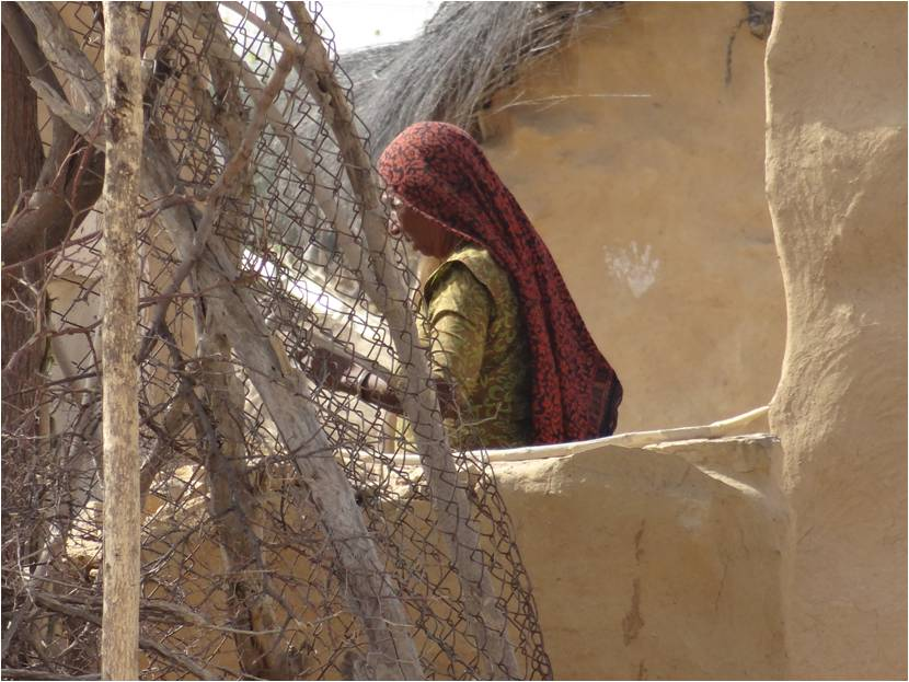 Inde Jaisalmer femme désert