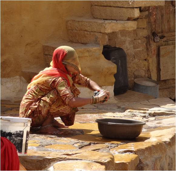 Inde Jaisalmer femme fort