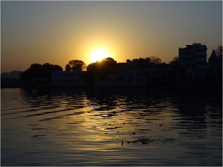 Inde Udaipur coucher soleil
