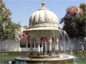 Inde Udaipur fontaine