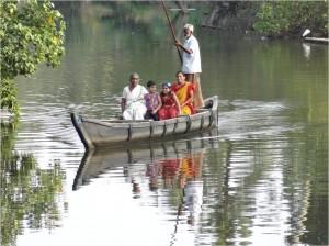 Inde Backwaters canoë houseboat ou bateau touristique1