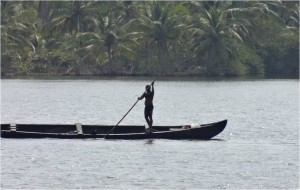 Inde Backwaters canoë houseboat ou bateau touristique2