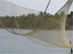 Inde Backwaters filet pêche bateau touristique
