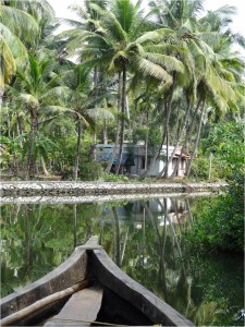 Inde Backwaters paysage canoë2