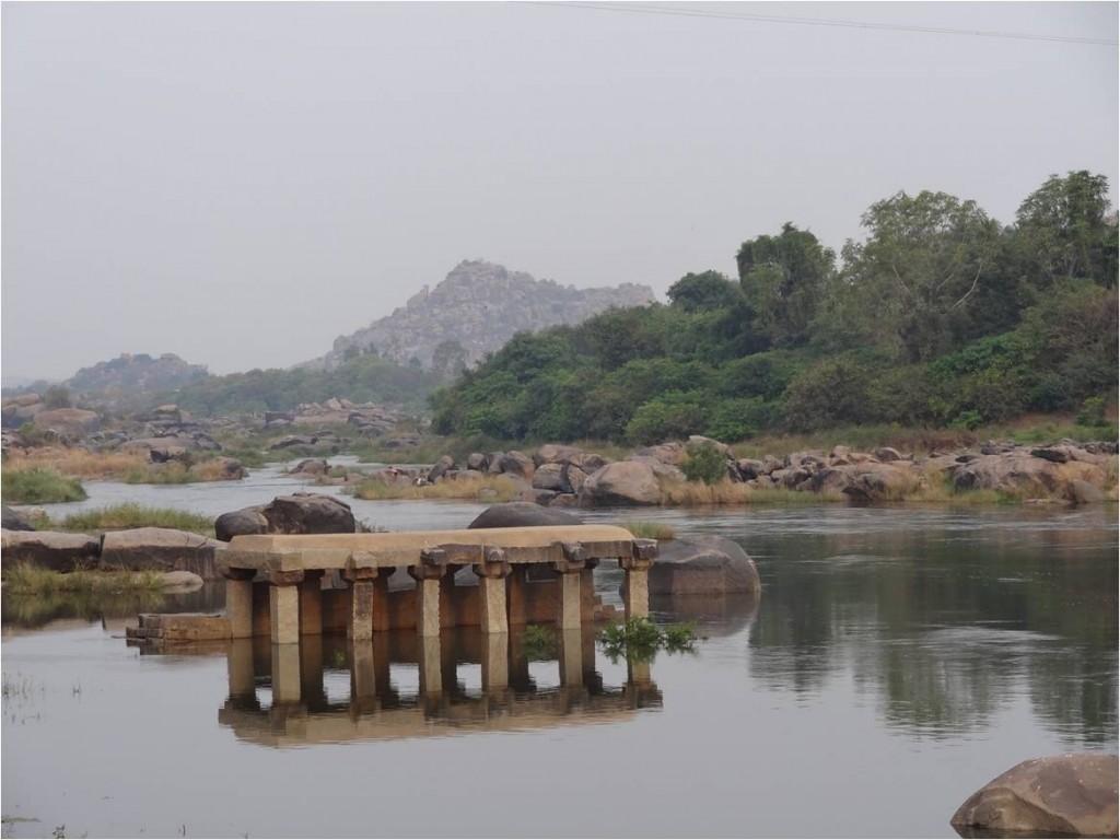 Inde Hampi rivière