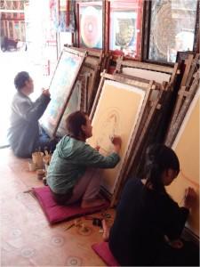Népal Bakhtapur Thikha étudiants 1