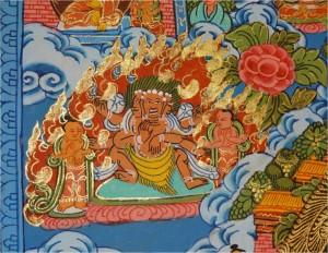 Népal Bakhtapur Thikha détail 5