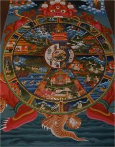 Népal Bakhtapur Thikha roue de la vie