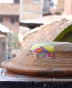 Népal Bakhtapur toit