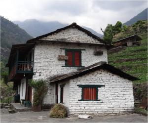 Népal Poon Hill maisons jour 1 2
