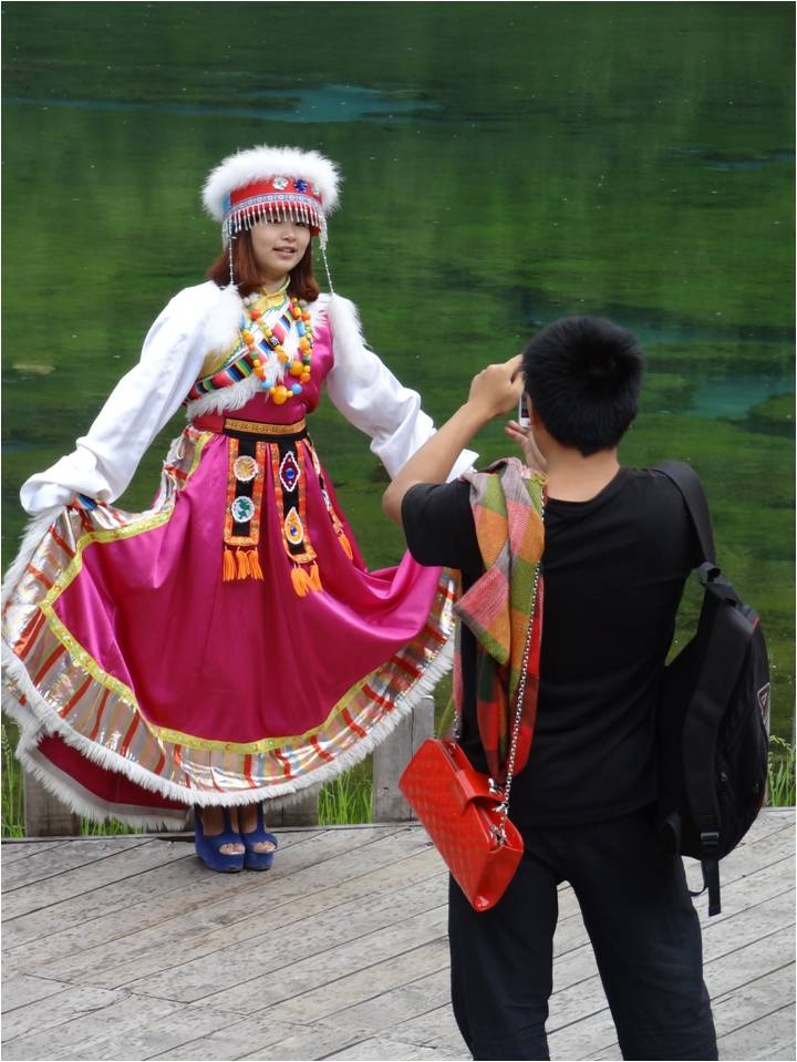 Chine Jiuzhaigou déguisement 2