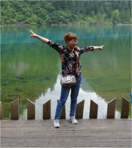 Chine Jiuzhaigou pose ridicule 2