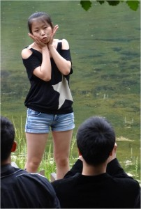 Chine Jiuzhaigou pose ridicule 4