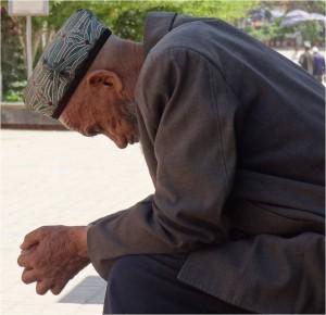 Chine Kashgar homme ouïgour