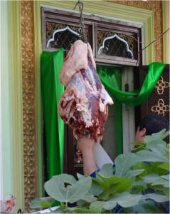 Chine Kashgar viande