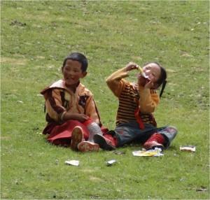 Chine Sichuan Litang enfants