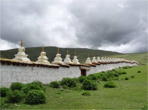Chine Sichuan Litang monastère