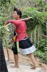 Chine minorités Basha femme