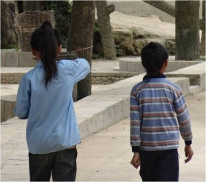 Chine minorités Basha garçons