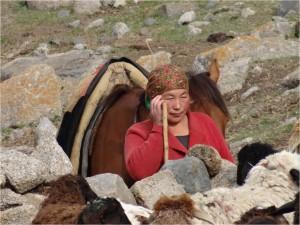 Kirghizistan Kol Ukok femme Altimbek