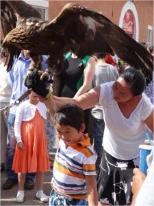 Mongolie Oulan-Bator Naadam aigle
