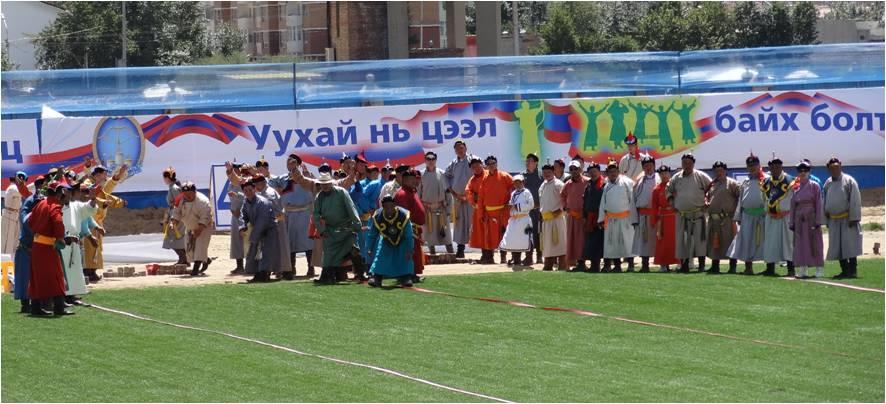 Mongolie Oulan-Bator Naadam ligne flèches 1