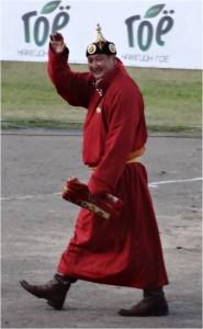 Mongolie Oulan-Bator Naadam lutteur vaincu