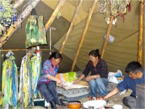Mongolie Tsaatanes tipi intérieur