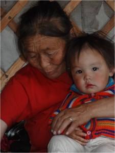 Mongolie trek cheval Tsagaannuur bébé