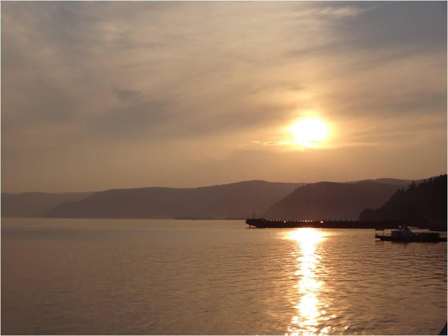 Coucher de soleil à Listvianka