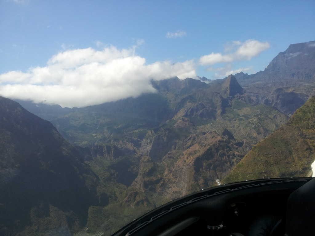 survol Mafate hélicoptère