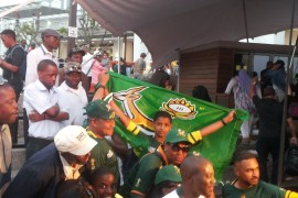 supporters Springboks rugby